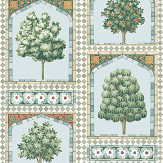 Cole & Son Sultans Palace Print Room Blue / Duck Egg Wallpaper