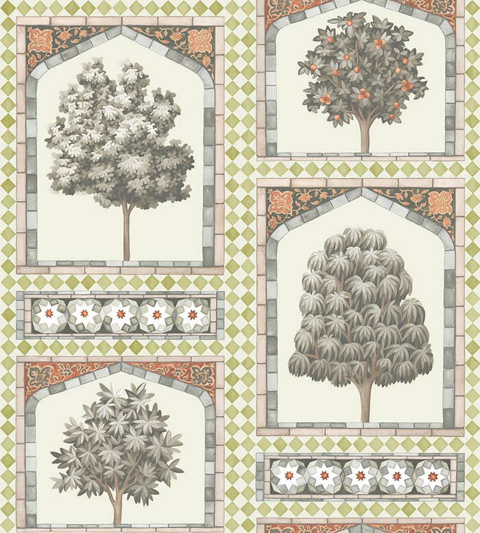Cole & Son Sultans Palace Gold / Spice Wallpaper - Product code: 113/10031