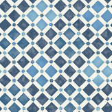 Cole & Son Zellige China Blue / White Wallpaper