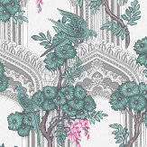 Cole & Son Babylon Teal / Pink Wallpaper - Product code: 113/13039