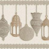 Cole & Son Fez Gilver / Parchment Border - Product code: 113/6014