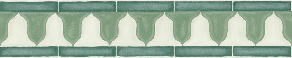 Zellige Border - Olive - by Cole & Son