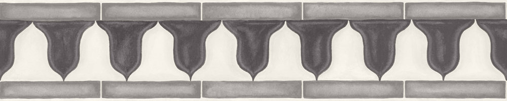 Zellige Border - Soot / Snow - by Cole & Son
