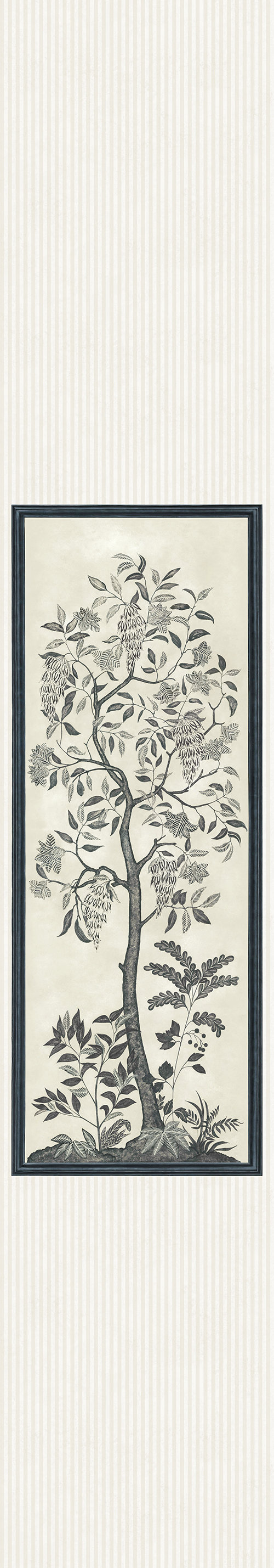Cole & Son Trees of Eden Panel Charcoal / Parchment Mural - Product code: 113/14041