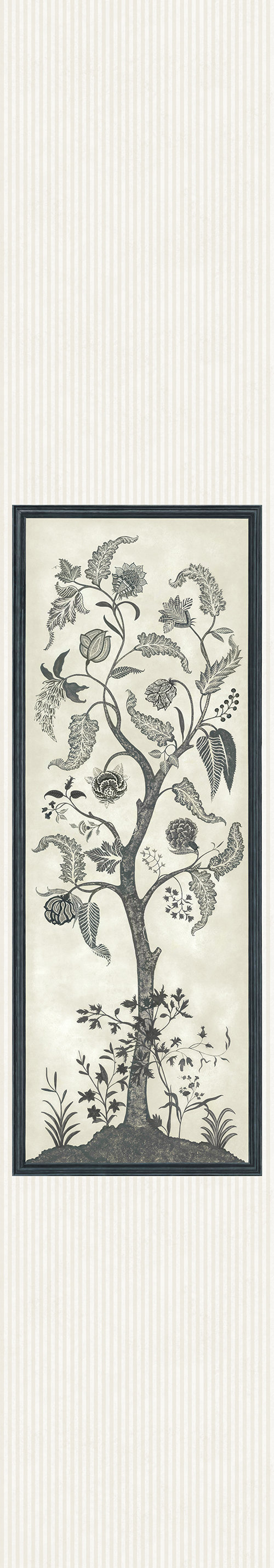 Cole & Son Trees of Eden Panel Charcoal / Parchment Mural - Product code: 113/14042