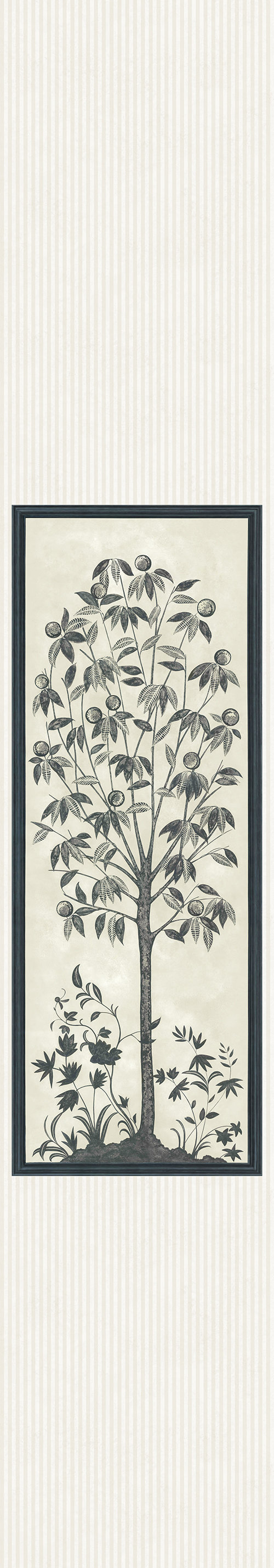 Cole & Son Trees of Eden Panel Charcoal / Parchment Mural - Product code: 113/14043