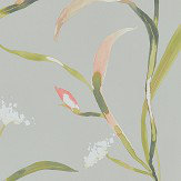 Harlequin Saona Coral / Silver Wallpaper