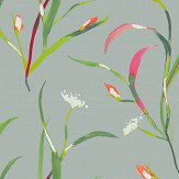 Harlequin Saona Papaya / Silver Wallpaper - Product code: 111759