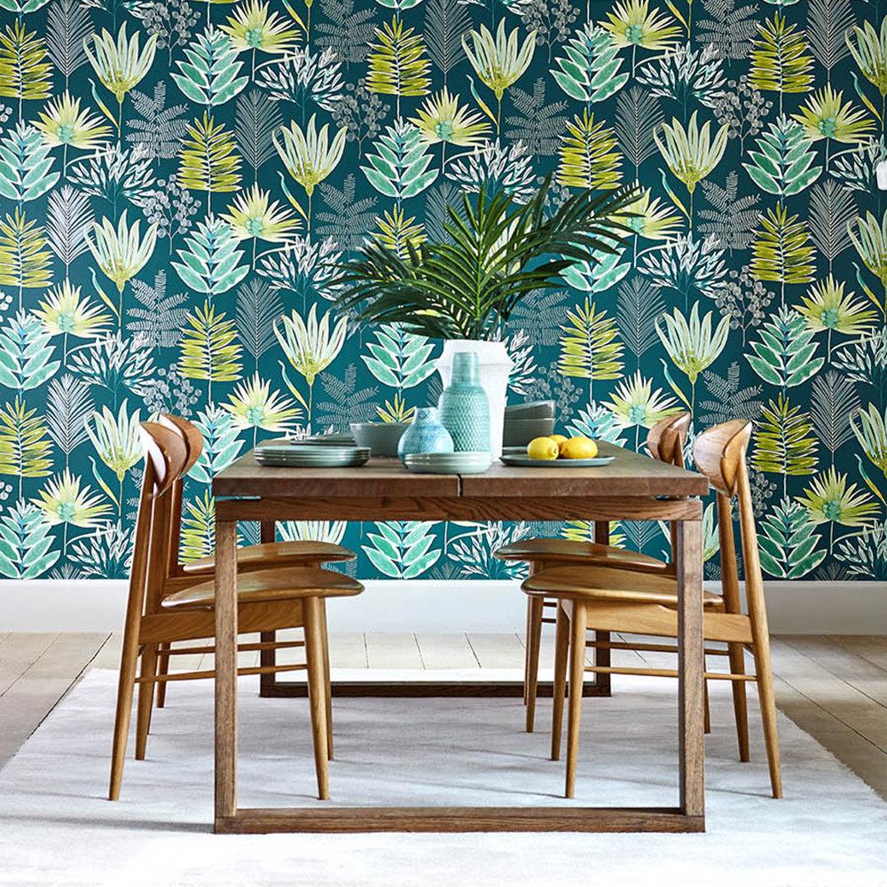 Yasuni Wallpaper - Emerald / Zest - by Harlequin