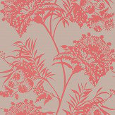 Harlequin Bavero Coral Wallpaper