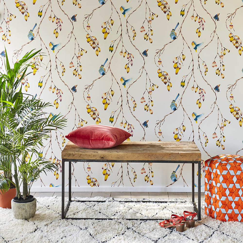 Harlequin Iyanu Papaya / Kiwi Wallpaper - Product code: 111770