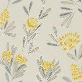 Harlequin Cayo Ochre / Linen Wallpaper