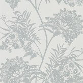 Harlequin Bavero Shimmer Silver Wallpaper