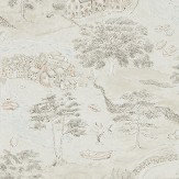 Sanderson Sea Houses Charcoal / Linen Wallpaper