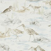 Sanderson Estuary Birds Blue / Grey Wallpaper