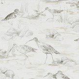 Sanderson Estuary Birds Chalk / Sepia Wallpaper