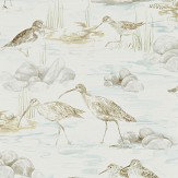Sanderson Estuary Birds Mist / Ivory Wallpaper