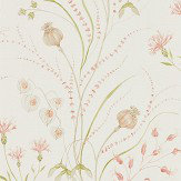 Sanderson Summer Harvest Claret / Olive Wallpaper