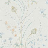 Sanderson Summer Harvest Cornflower / Wheat Wallpaper