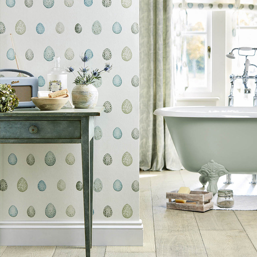 Sanderson Nest Egg Eggshell / Ivory Wallpaper - Product code: 216502