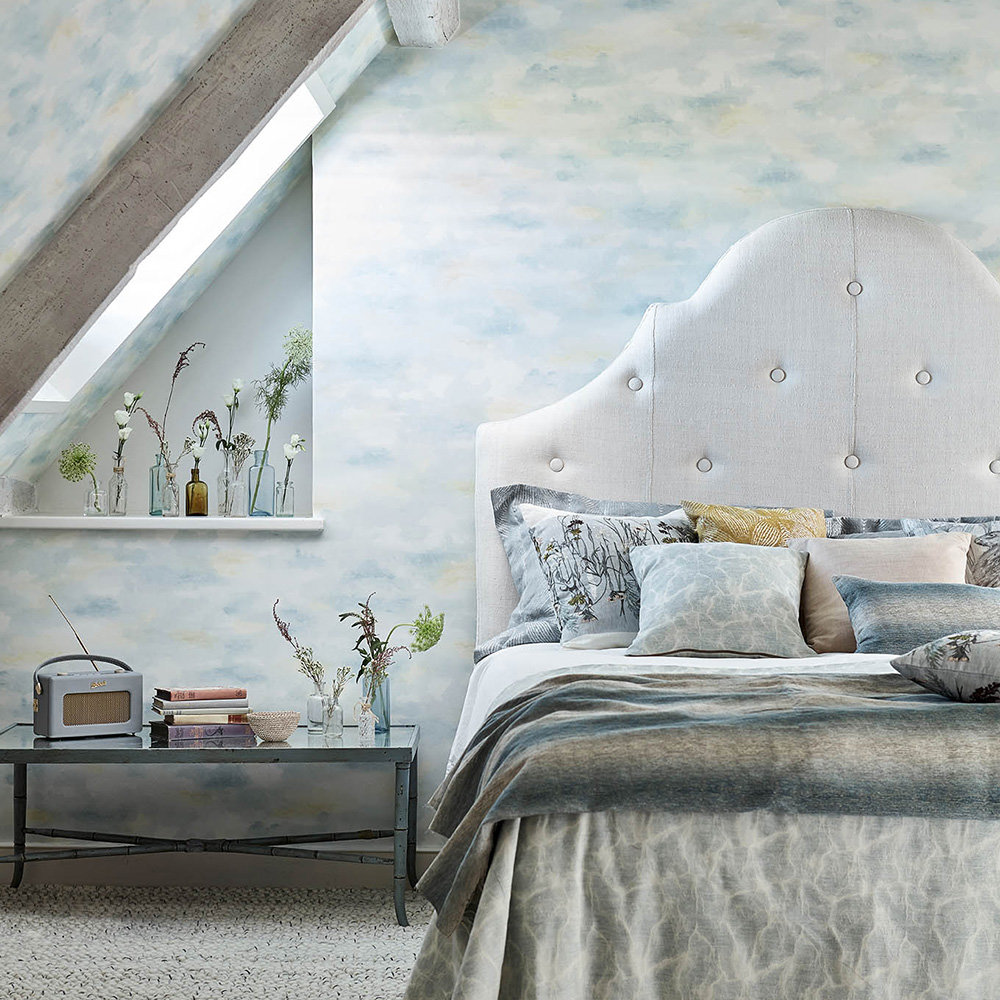 Sanderson Bamburgh Sky Estuary Blue Wallpaper - Product code: 216515