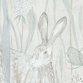 Sanderson Dune Hares Mist / Pebble Wallpaper