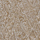Roberto Cavalli Angular Damask Gold Wallpaper