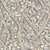 Roberto Cavalli Angular Damask Pewter Wallpaper - Product code: 16037