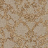 Roberto Cavalli Baroque Gold Wallpaper