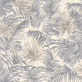 Roberto Cavalli Ferns Grey Wallpaper