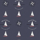 Galerie Boat and Compass Navy Wallpaper - Product code: G23036