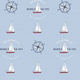 Galerie Boat and Compass Sky Blue Wallpaper