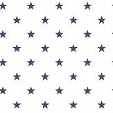 Galerie Stars White / Navy Wallpaper - Product code: G23101