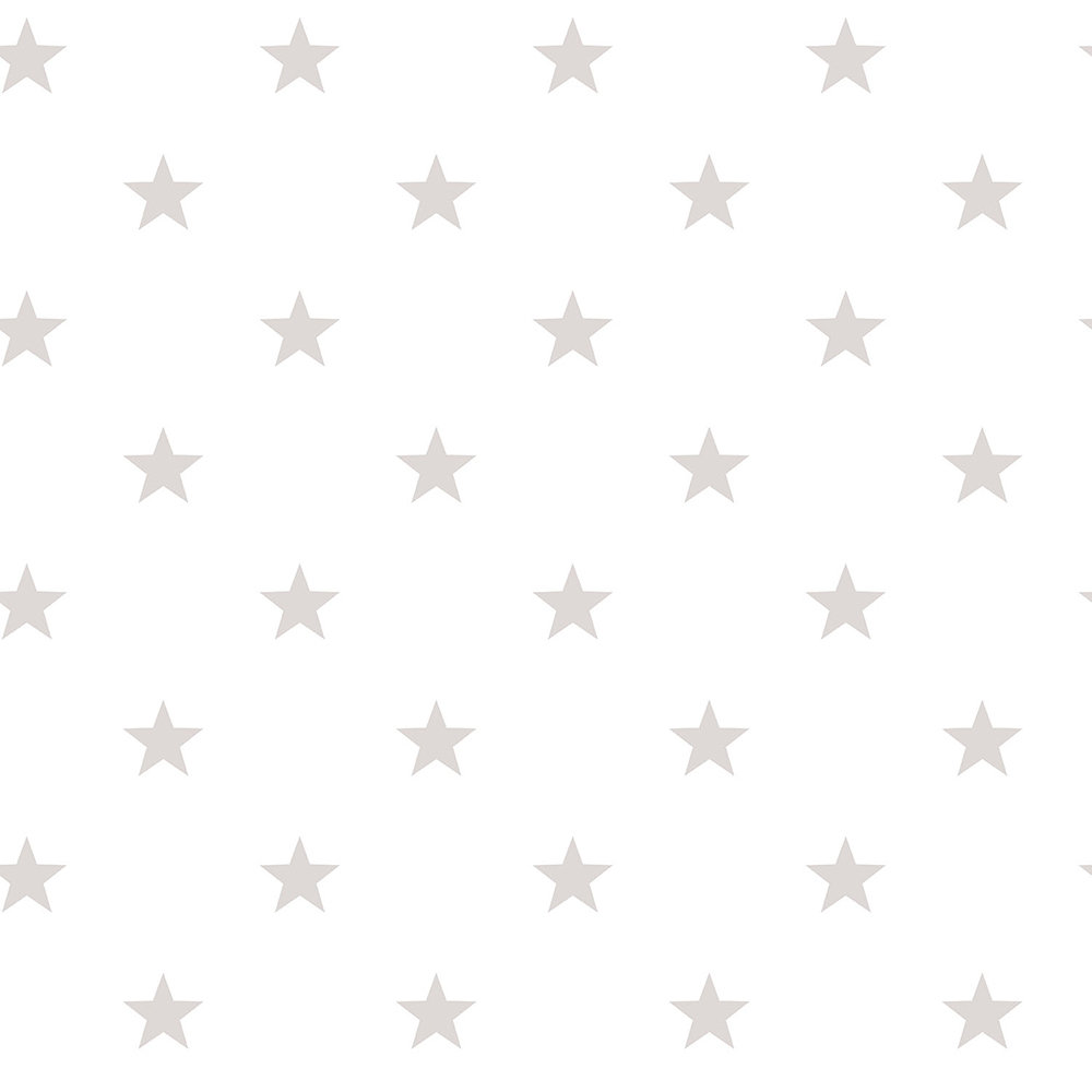 Galerie Stars White / Warm Grey Wallpaper main image