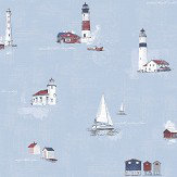 Galerie Lighthouse Blue / Red Wallpaper - Product code: G23313