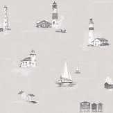 Galerie Lighthouse Greige Wallpaper - Product code: G23314
