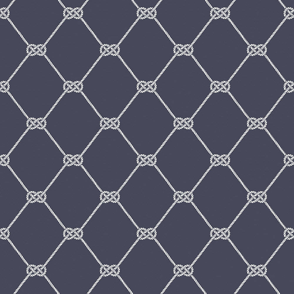 Galerie Nautical Knot Navy Wallpaper - Product code: G23346