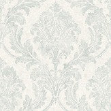 The Paper Partnership Eskdale Aqua / Stone Wallpaper