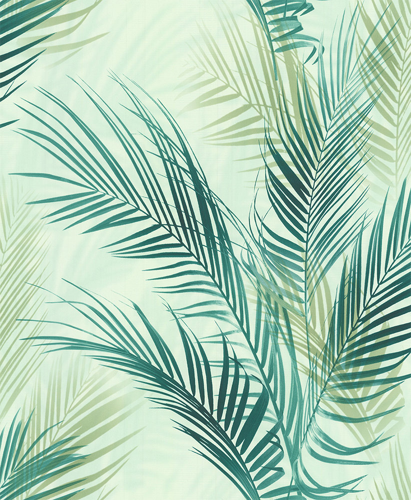 Albany Bamboo Palm Blue Green Wallpaper - Product code: 478648