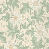 Little Greene Monroe Gold Flower Wallpaper