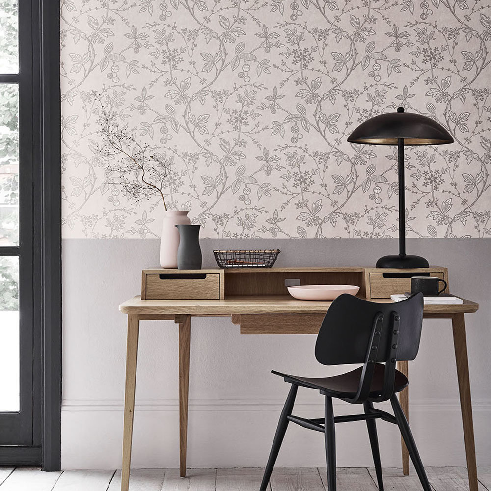 Little Greene Wrest Trail Pink Plaster Wallpaper - Product code: 0291WRPINKZ