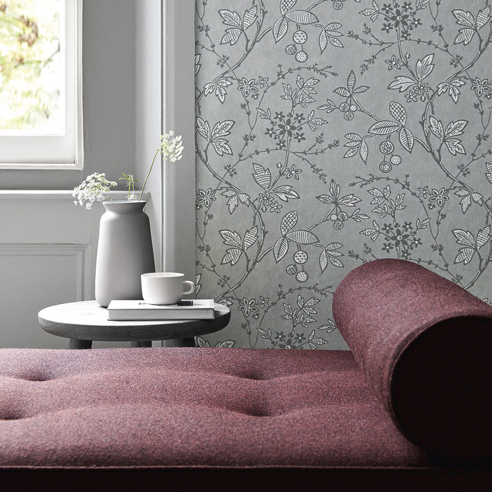 Little Greene Wrest Trail Lead Wallpaper - Product code: 0291WRLEADZ