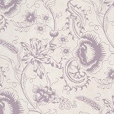 Little Greene Woodblock Mono Plum Wallpaper