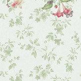 Little Greene Asterid mural Mint