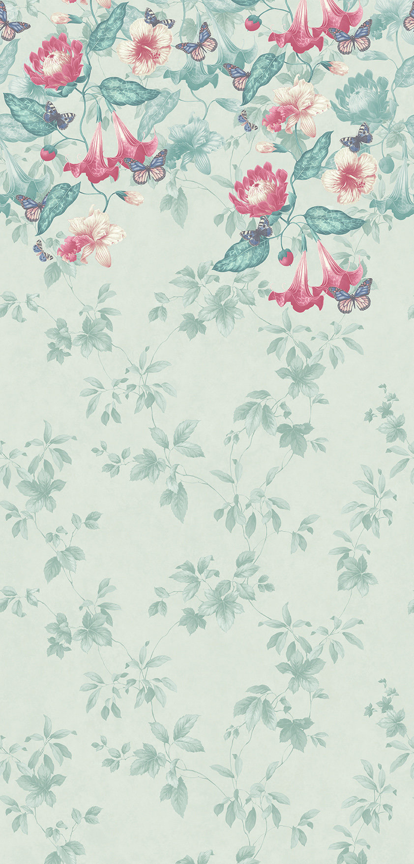 Asterid mural - Island - by Little Greene