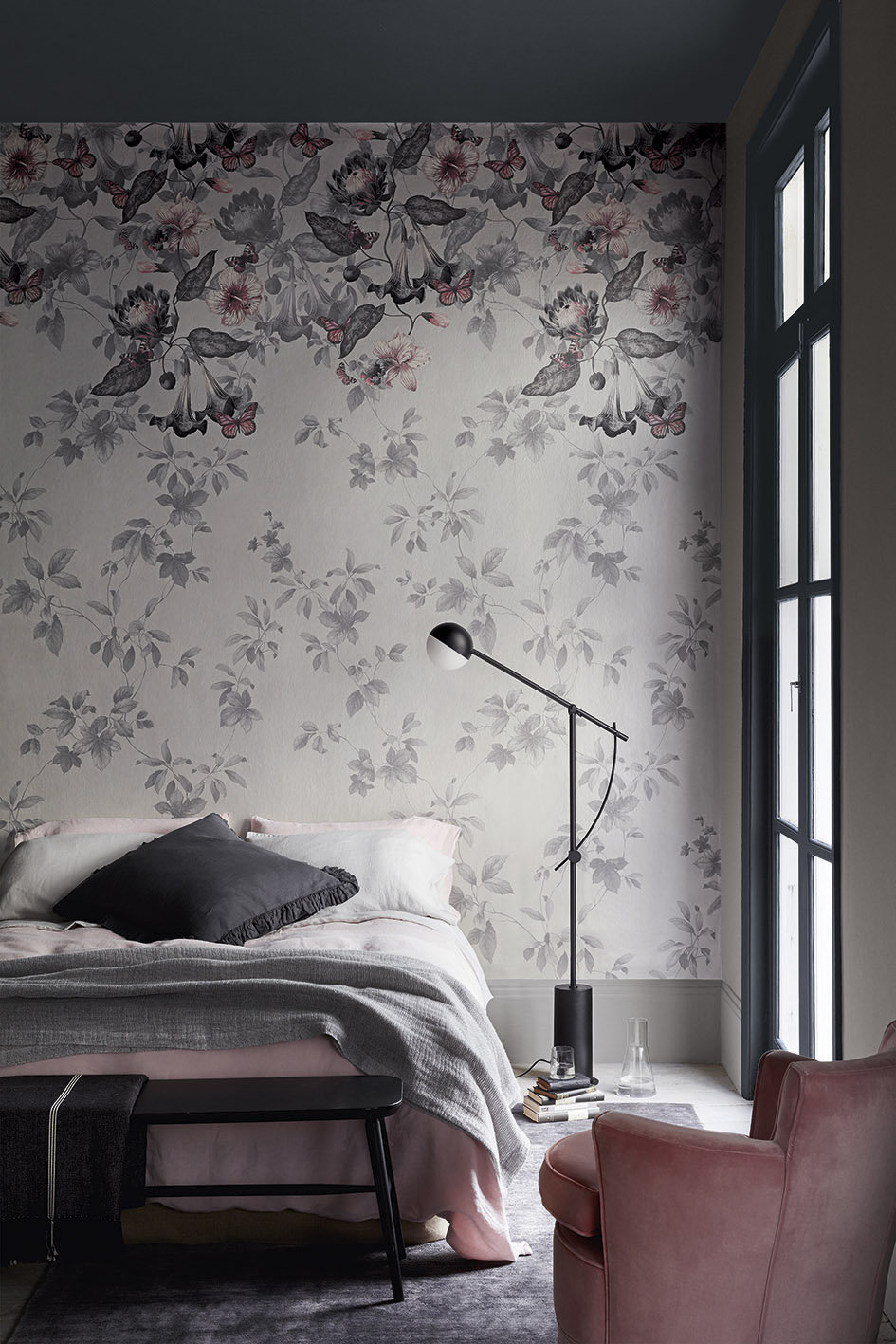 Little Greene Asterid mural Nightshade - Product code: 0291ASNIGHT