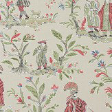 Thibaut Royale Toile Red Wallpaper - Product code: T72577