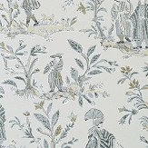 Thibaut Royale Toile Grey Wallpaper - Product code: T72576