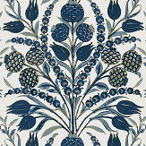 Thibaut Cornelia Navy Wallpaper