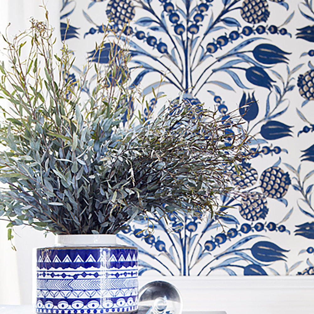 Thibaut Cornelia Navy Wallpaper - Product code: T72603